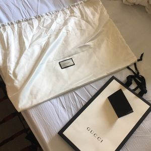 Gucci paper bag and dust bag
